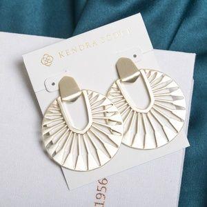 Kendra Scott Didi Sunburst Statement Earrings Gold